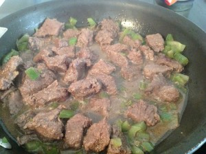 Brown Venison and Green Peppers