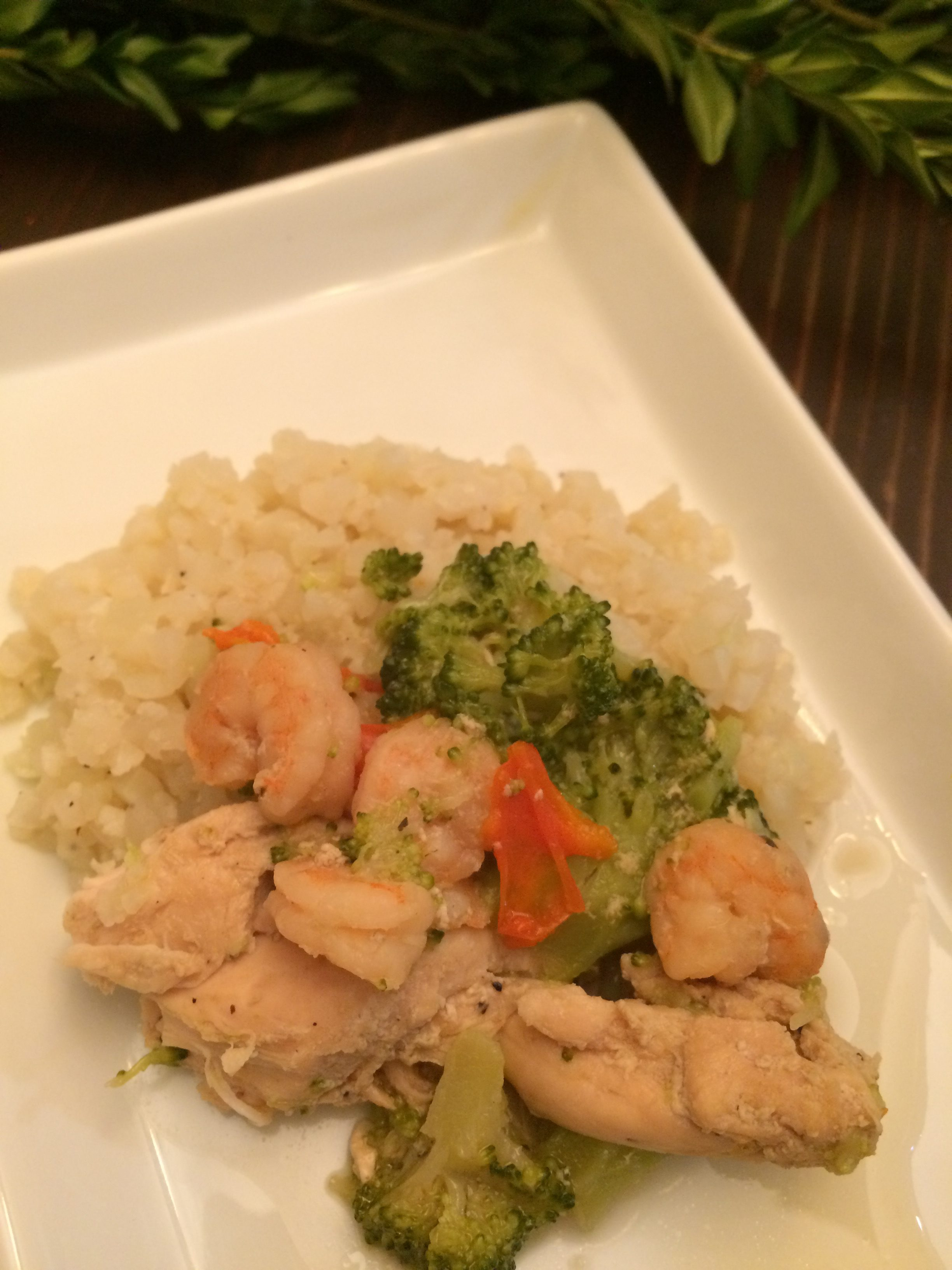 Paleo Chicken and Broccoli with Shrimp
